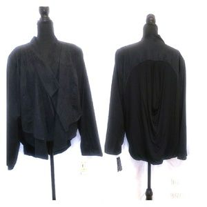 New Plus Suede Black Jacket 3x by INC